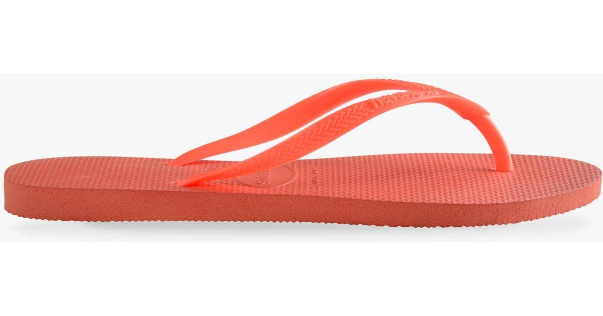 1ec0f6d29 Havaianas Plain Flip Flops in Orange - Lyst