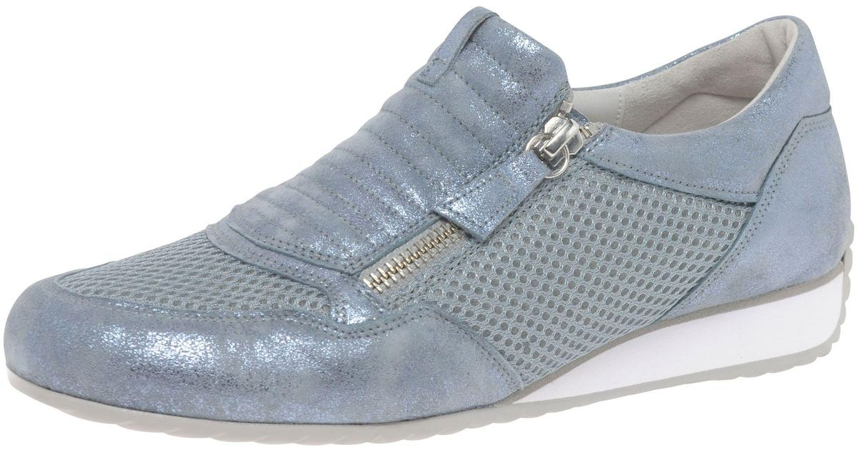 6aaba94e4cd1 John Lewis Gabor Brunello Wide Fit Zip Trainers in Blue - Lyst