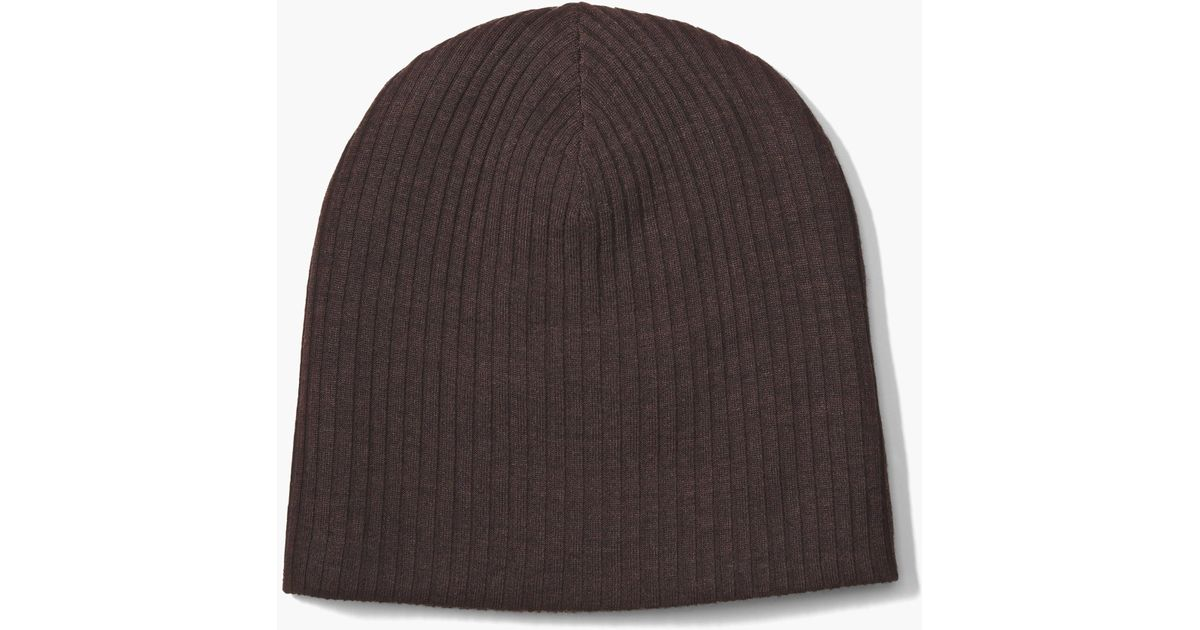 John Varvatos Double Layer Beanie in Brown for Men - Lyst a4505f2f22b