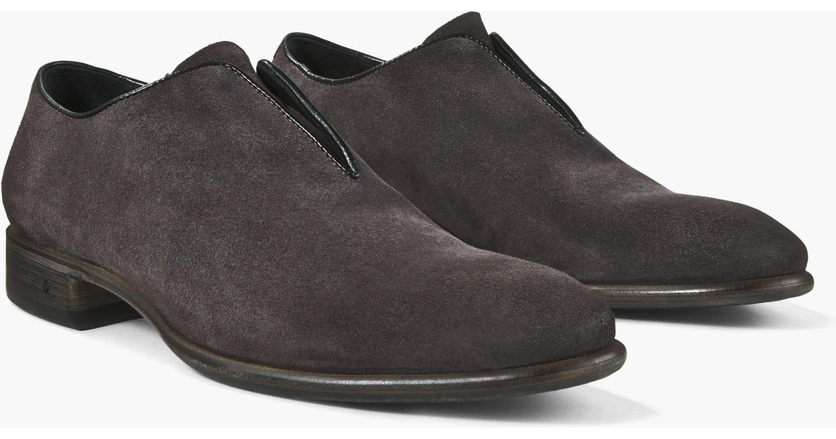 07c1a7f992c Lyst - John Varvatos Suede Eldridge Laceless Slip-on for Men