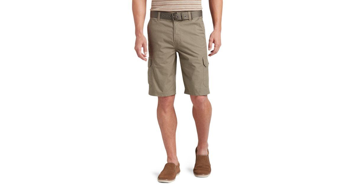 71c384bfc2 A. Bank Joseph Abboud Tailored Fit Rip-stop Cargo Shorts Clearance for Men