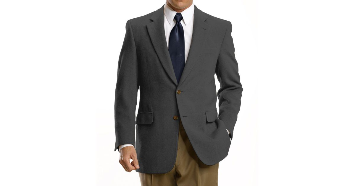 6272afa38 A. Bank Executive Collection Traditional Fit Camel Hair Blazer - Big & Tall  Clearance for Men - Lyst