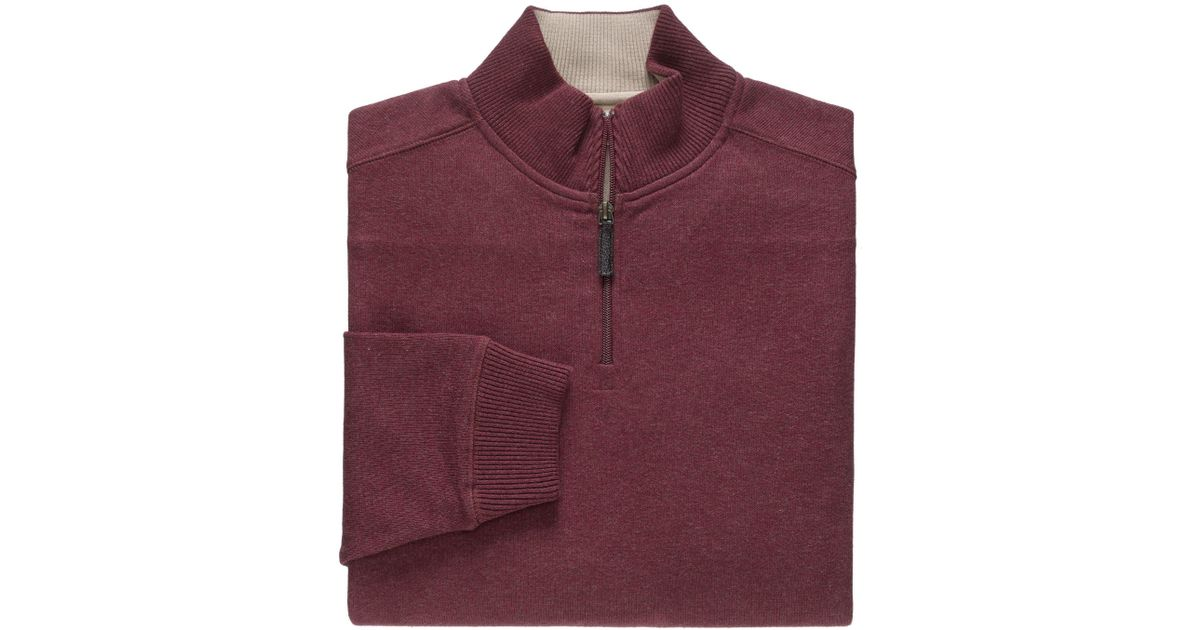 ba1f56303 Lyst - Jos. a. bank Vip Quarter-zip French Terry Sweater - Big ...