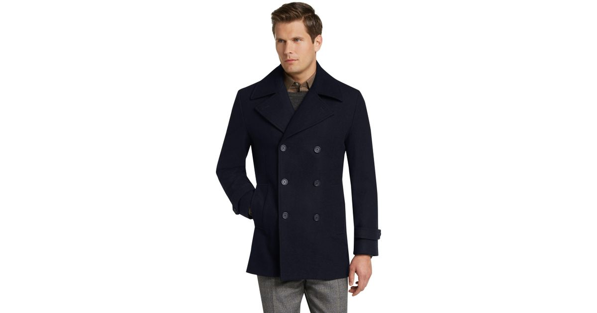 store new authentic for sale Jos. A. Bank Blue Executive Collection Tailored Fit Peacoat for men