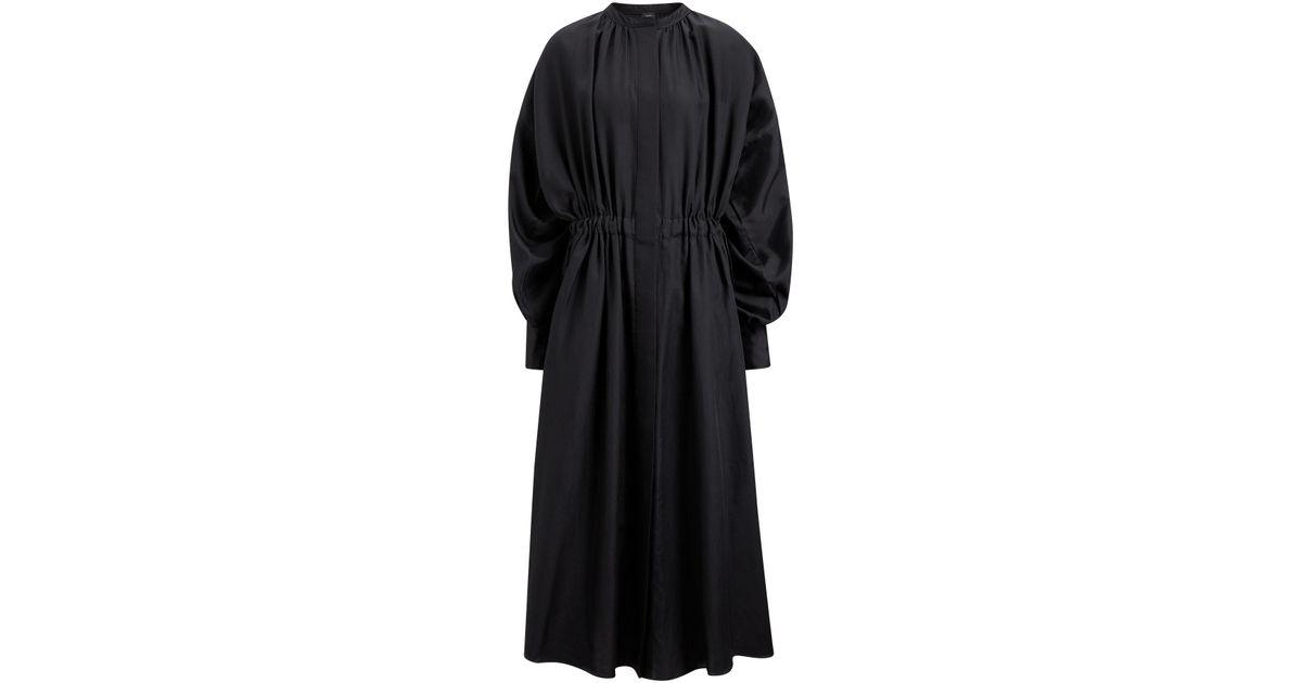 808db4532e49 JOSEPH Rafael Cotton Silk Shirting Dress in Black - Lyst