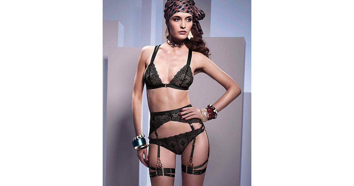 99d0f8264694ec Lyst - Bordelle Kizette Longline Suspender in Black