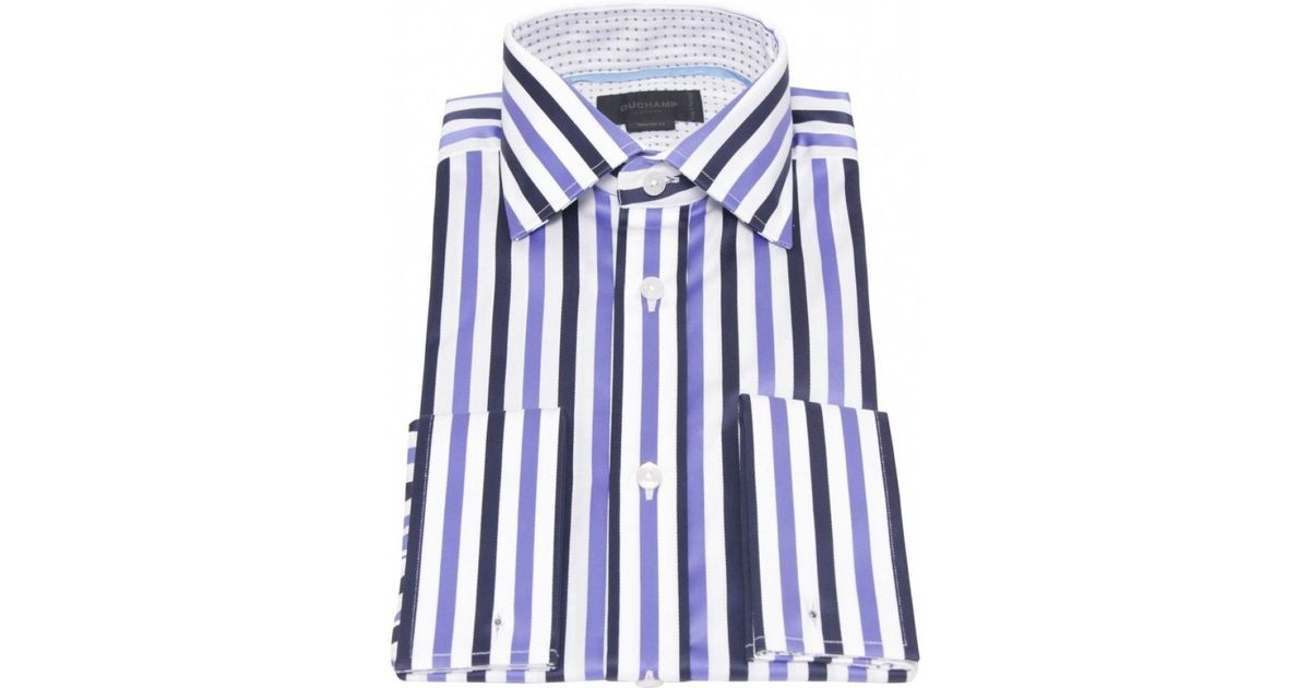 09549a4517 Duchamp River Striped Shirt in Purple for Men - Lyst