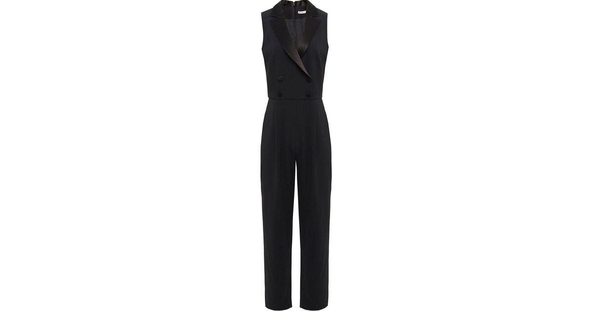 5cc9170e9b5e Lyst - Alice + Olivia Jeri Tuxedo Jumpsuit in Black