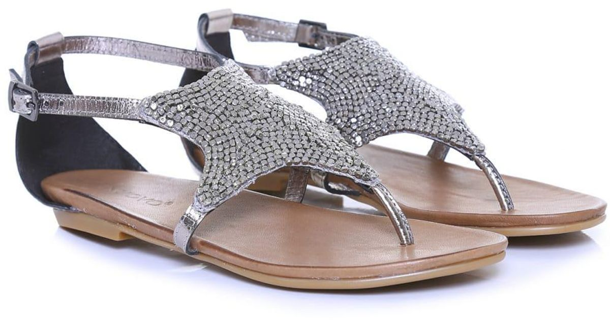 3d020cd9a606 Inuovo Beaded Starfish Sandals in Brown - Lyst