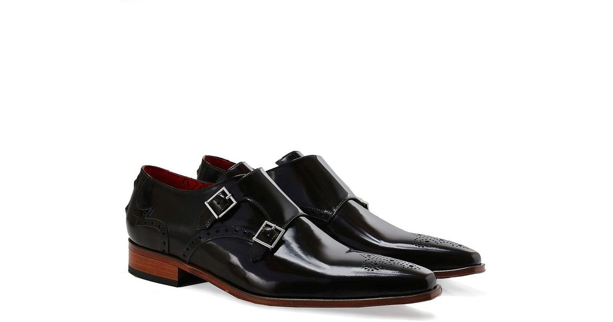684cf22eb851 Jeffery West Patent Leather Double Monk Strap Shoes in Brown for Men - Lyst