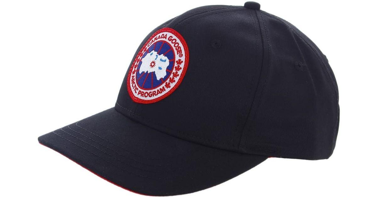 Lyst - Canada Goose Adjustable Baseball Cap in Black for Men a922561572bb
