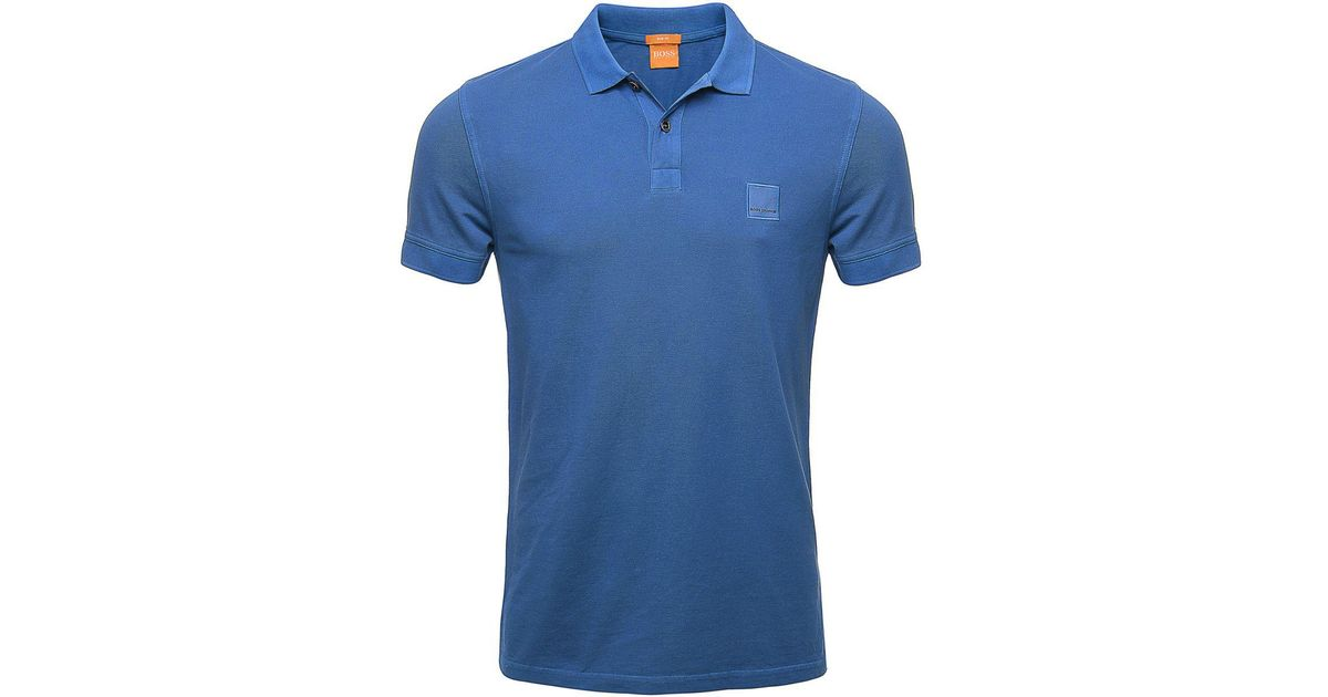 BOSS Slim Fit Pascha Polo Shirt in Blue for Men - Lyst cb2fbda726b62