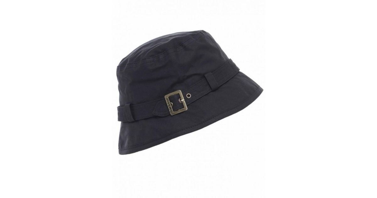 Barbour Kelso Belted Bucket Hat in Black - Lyst b6fb59afa0e5