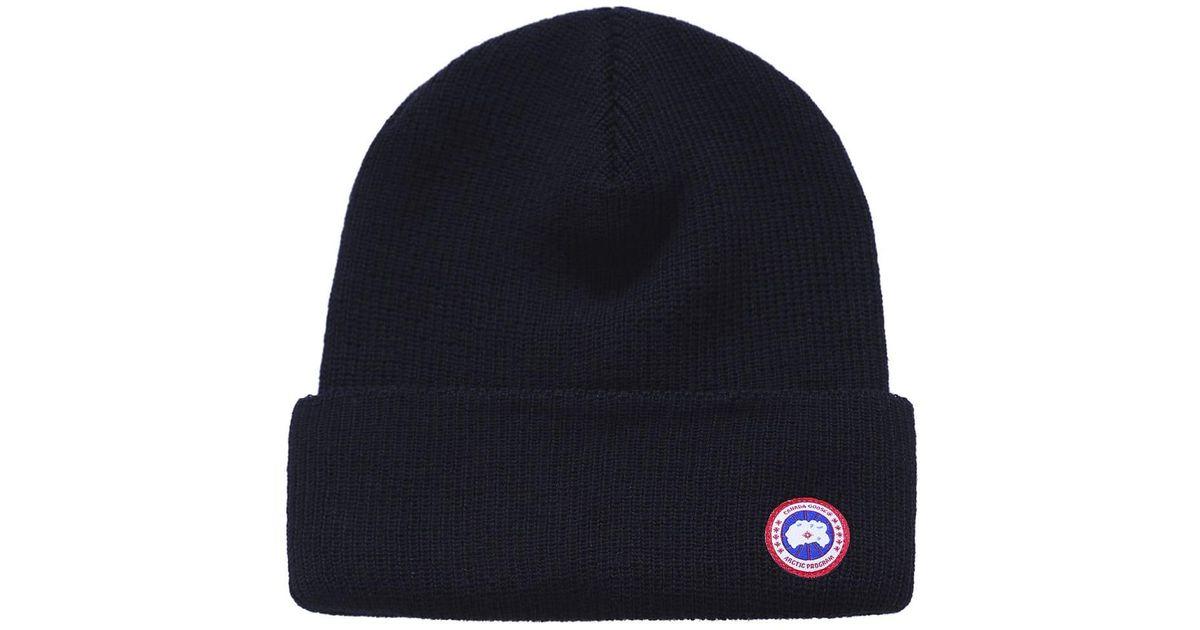 f8c5bba2c02 Canada Goose Merino Watch Hat in Black - Lyst