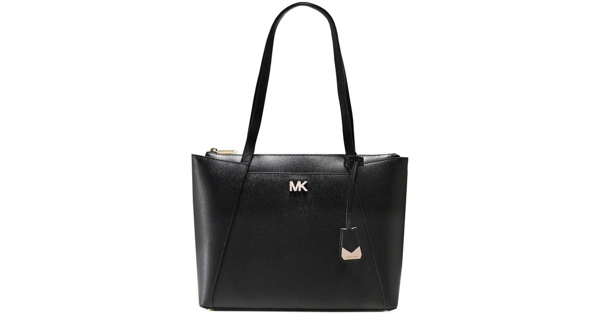 8ec82a98c15e MICHAEL Michael Kors Maddie Medium Leather Tote Bag in Black - Lyst