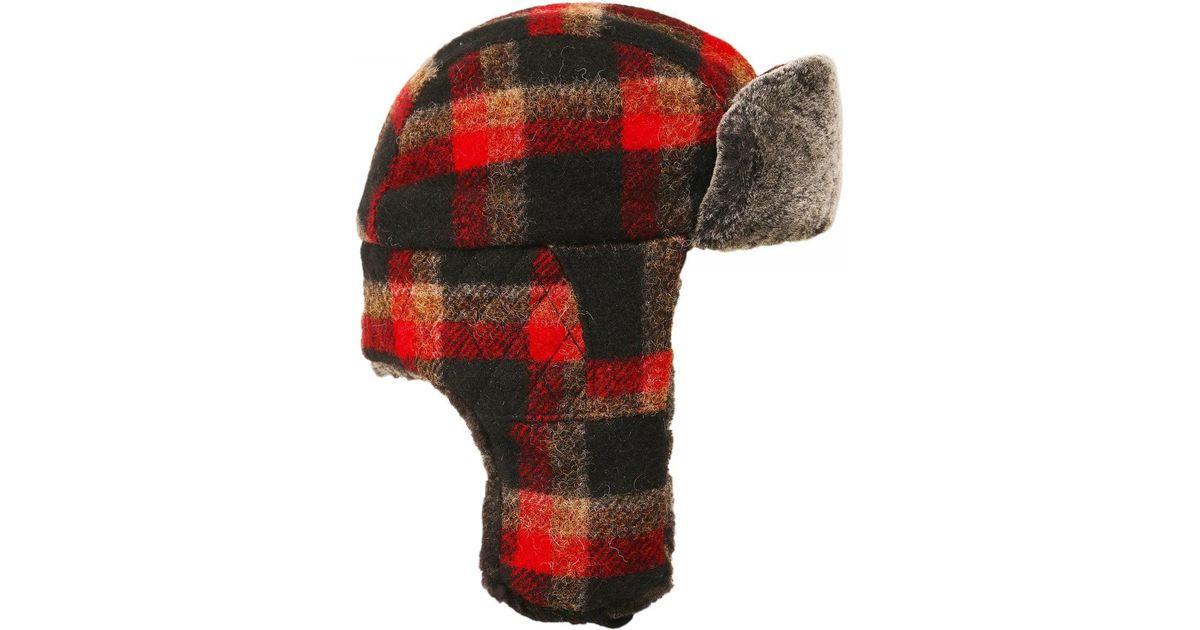 fb2ab99c8e22c Lyst - Stetson Tartan Wool Caerrville Trapper Hat in Red for Men