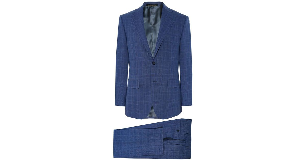 641cefa22841ef Corneliani Virgin Wool Prince Of Wales Check Suit in Blue for Men - Save  38% - Lyst