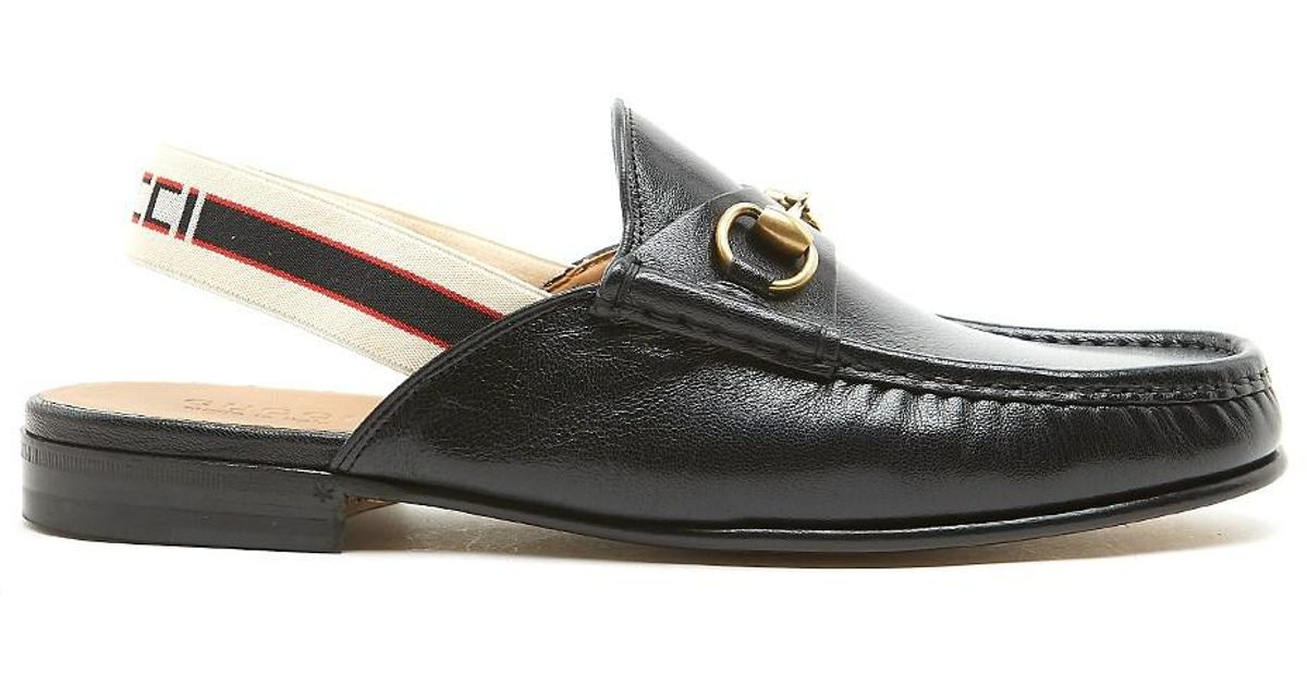 7052db8a46e Lyst - Gucci  open Roos  Mules in Black for Men