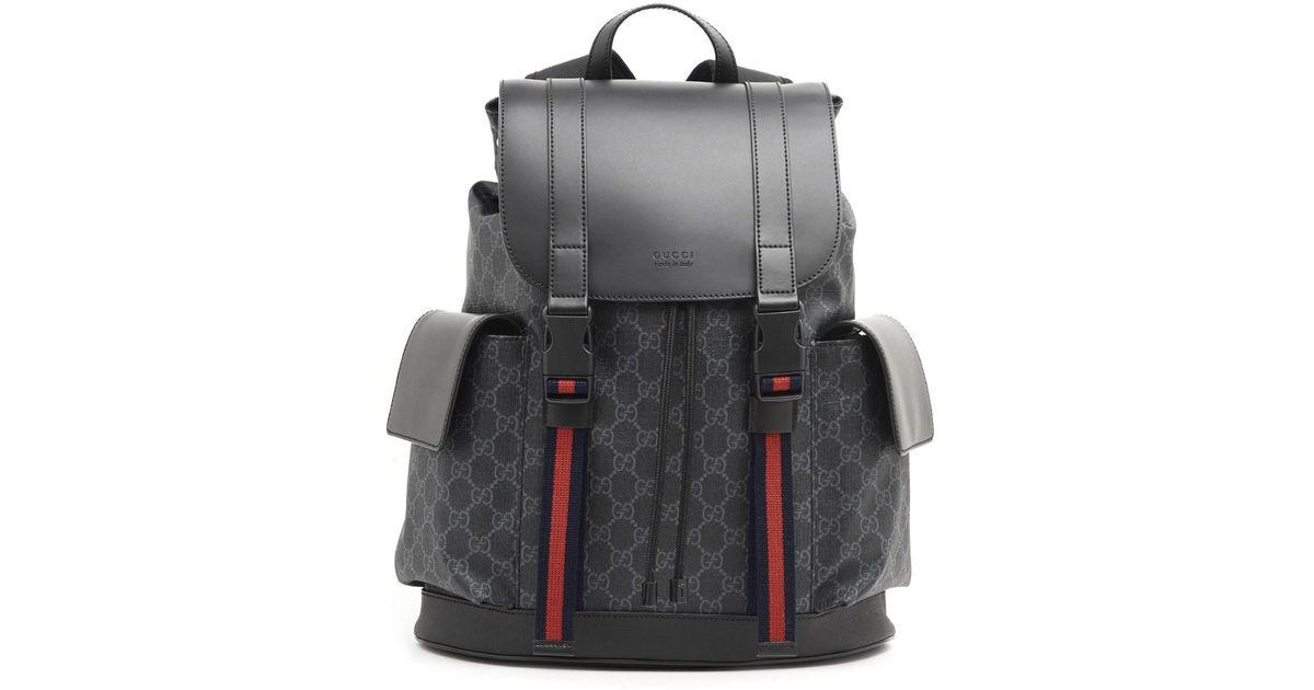 dea5f4cd9f7 Lyst - Gucci  GG Supreme  Backpack in Black for Men