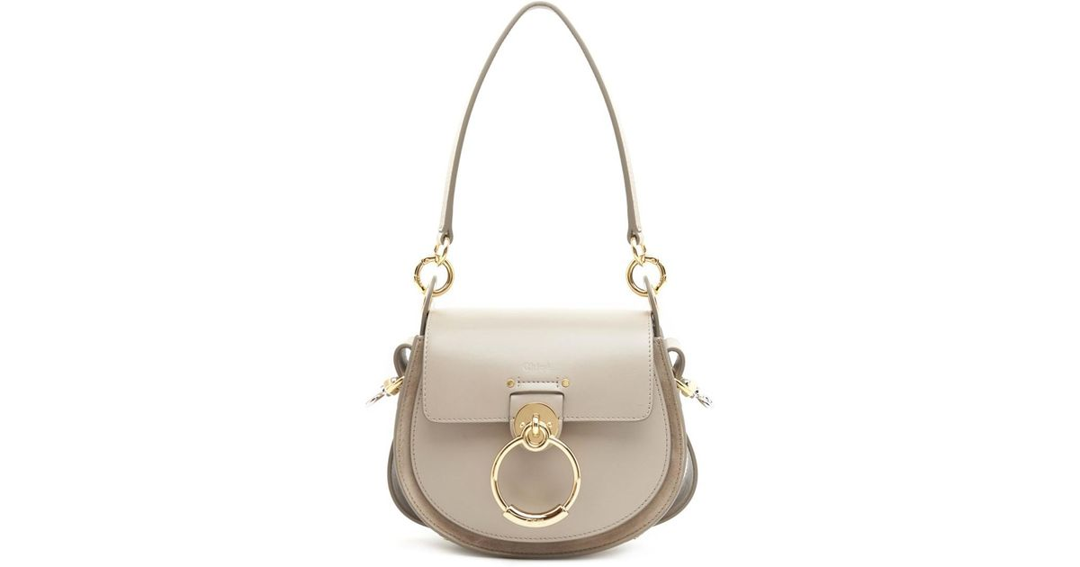 85826b4d638b Lyst - Chloé Small Tess Saddle Bag in Gray - Save 14%