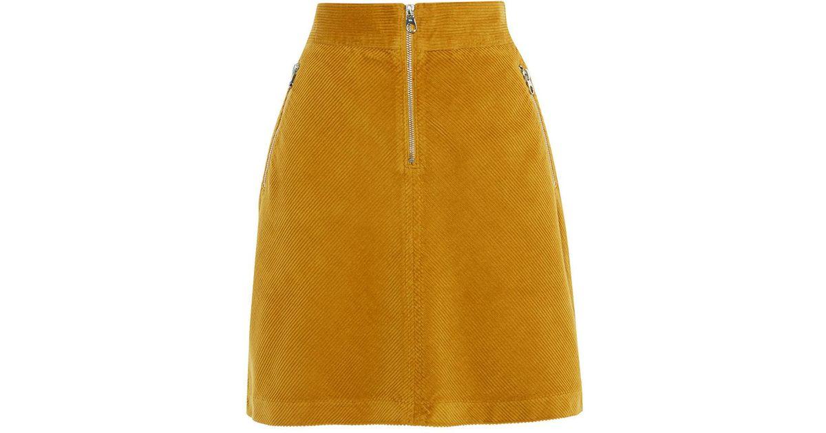 f6da57b93013 Lyst - Karen Millen Corduroy Mini A-line Skirt
