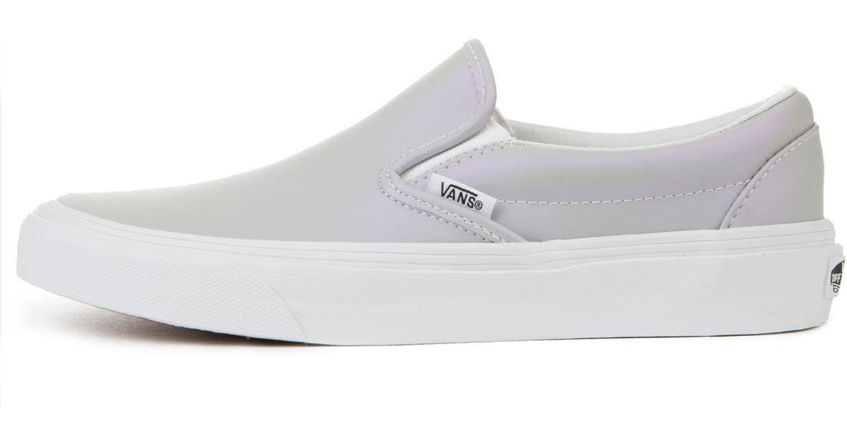 3e79349171 Lyst - Vans The Women s Classic Slip-on Muted Metallic In Gray And Violet in  Gray