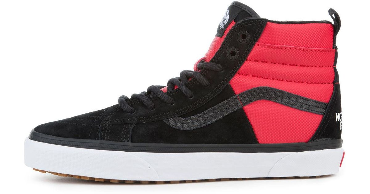 787d2f375c Lyst - Vans The X The North Face Sk8 Hi Mte Dx In Tnf  Black And Red in Red  for Men