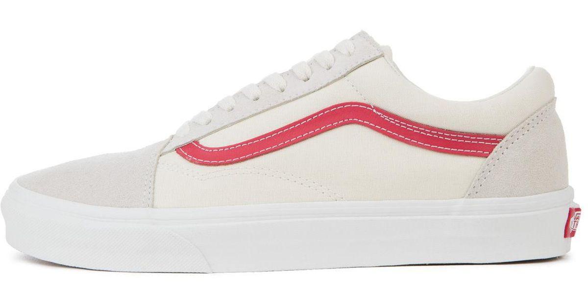 vans white red