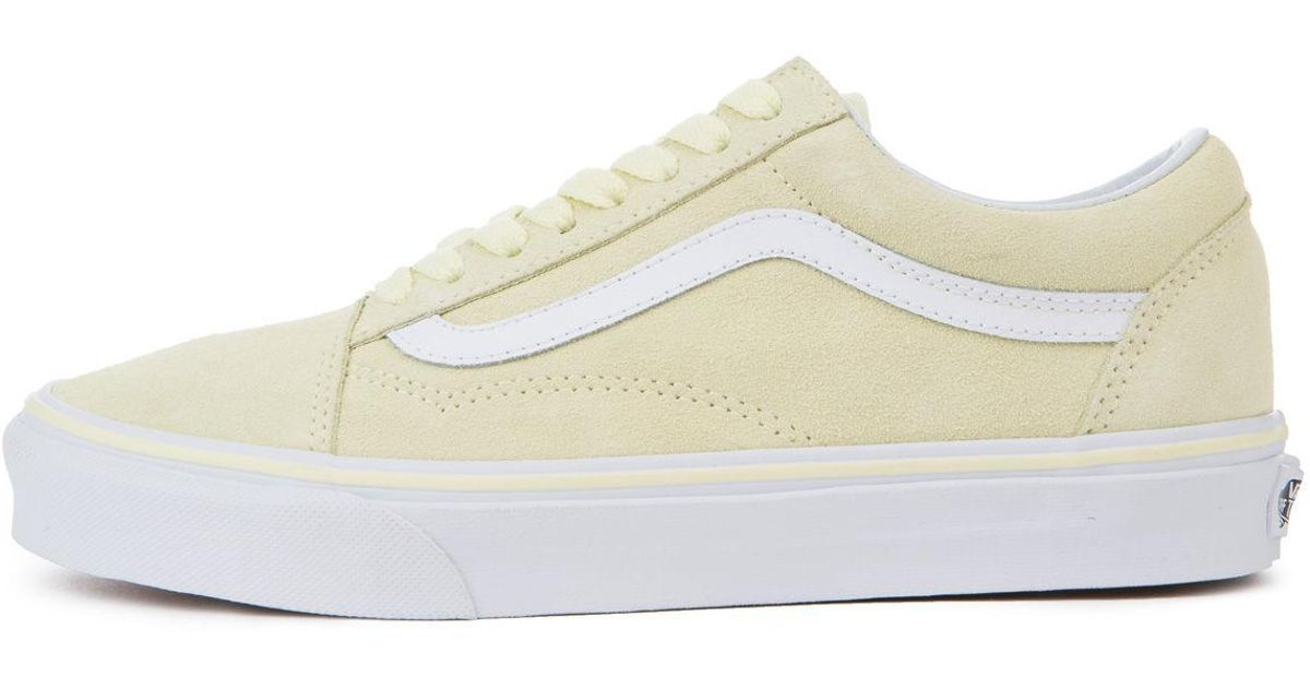 aaab1bb4cc4f71 Lyst - Vans The Women s Old Skool Suede In Tender Yellow And True White in  White