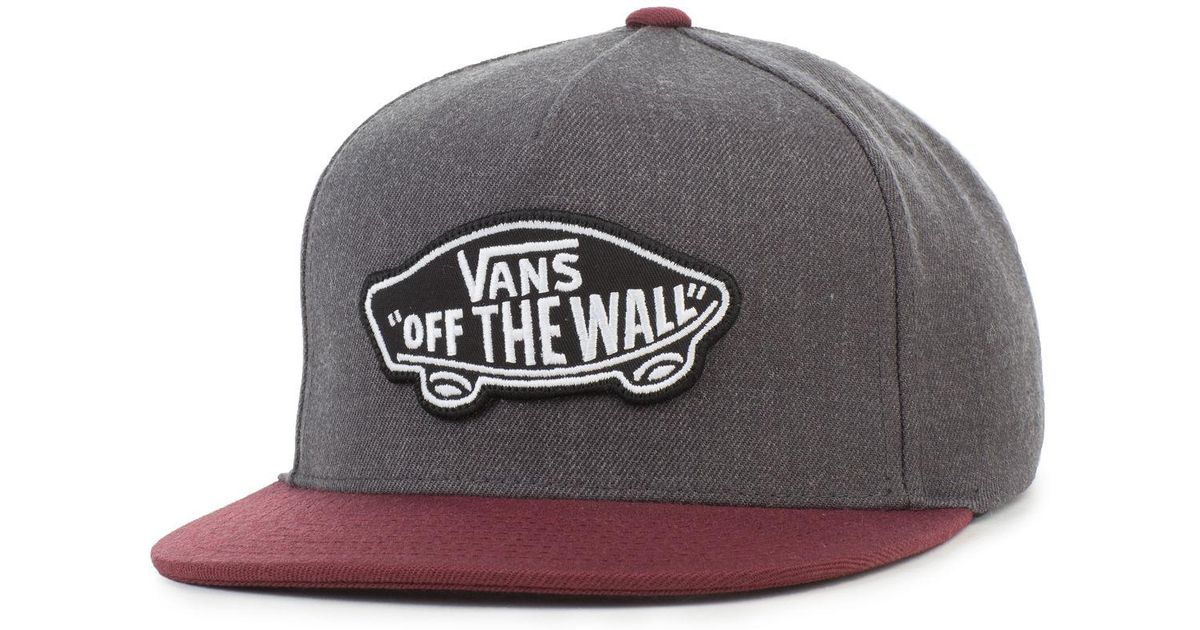 04c4d0cd89a Lyst - Vans The Classic Patch Snapback In Heather Black And Port Royale in  Black for Men