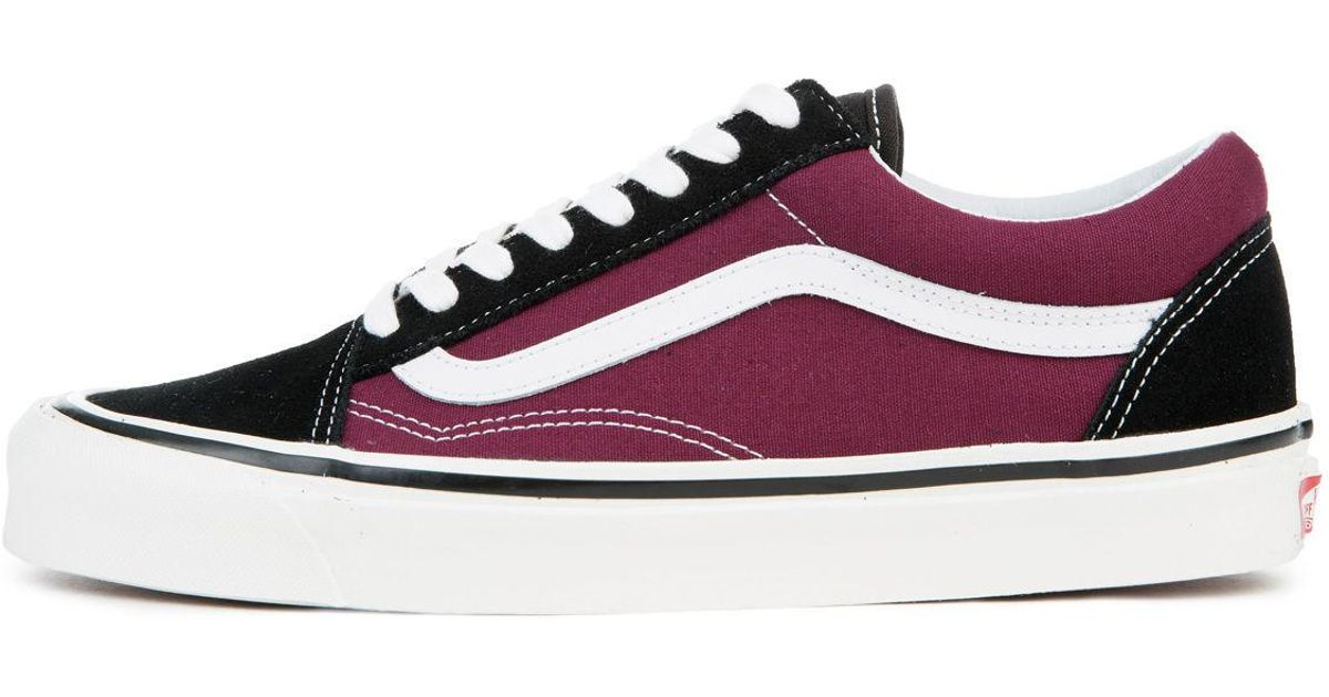 3ef161dacd Lyst - Vans The Men s Old Skool 36 Dx In Black And Og Burgundy in Black for  Men