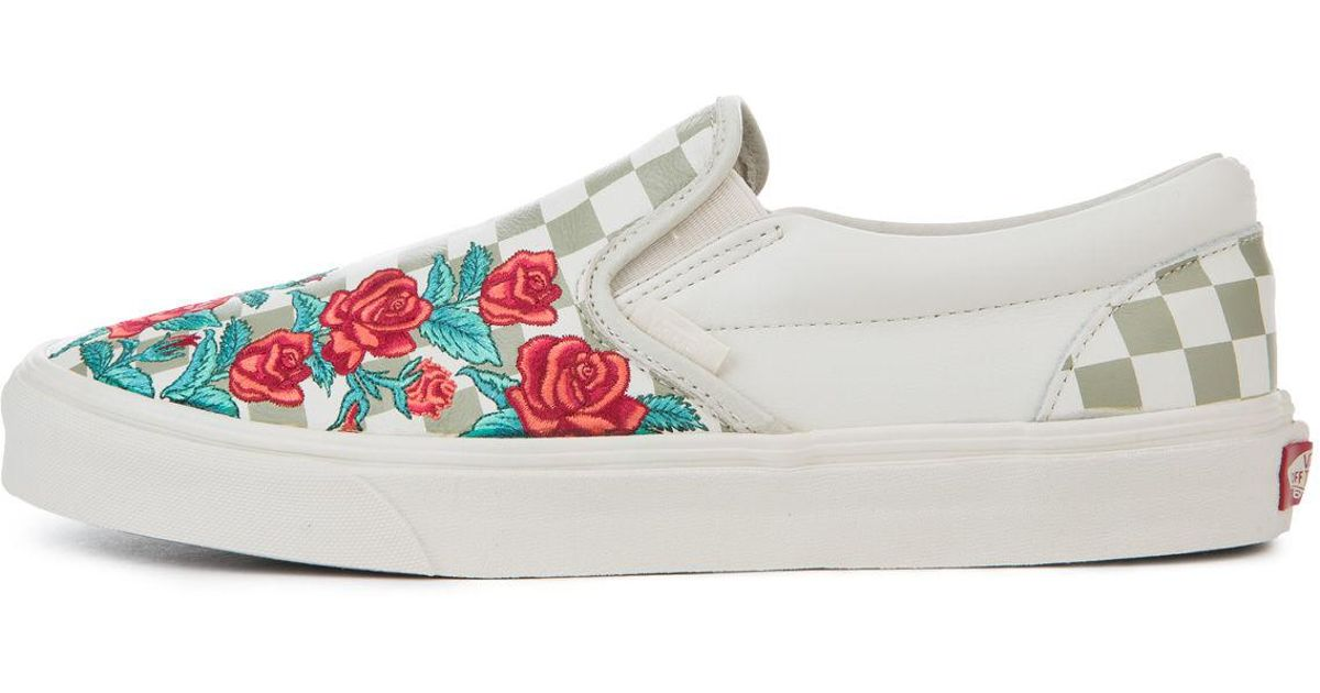 5ca24fc9cc0 Lyst - Vans The Classic Slip-on Dx Rose Embroidery
