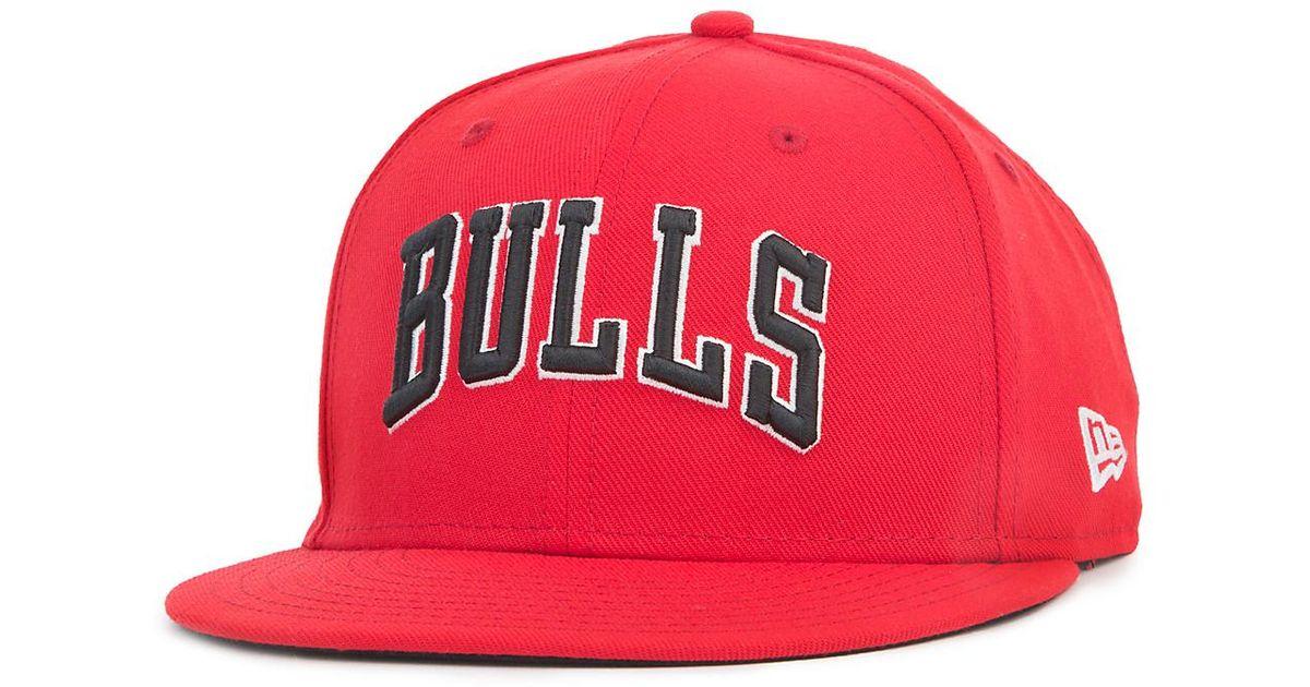 4ef99f05bd663 Lyst - NEW ERA HATS 950 Chicago Bulls Snapback in Red for Men