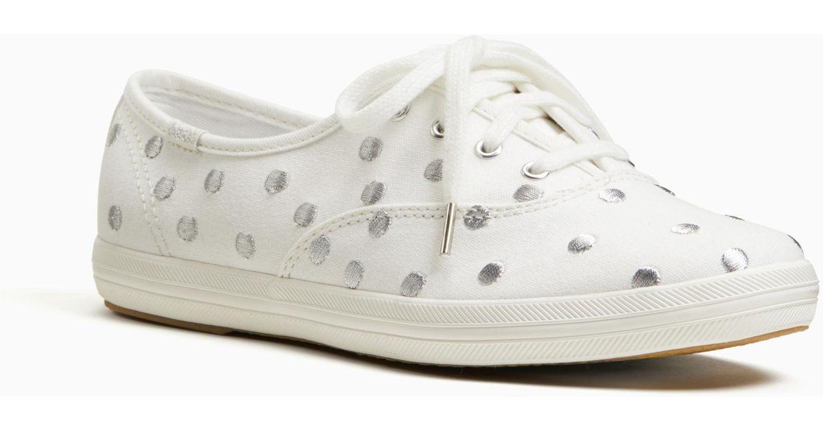 4b4adffbc64f Lyst - Kate Spade Keds For Champion Dancing Dot Sneakers in Metallic