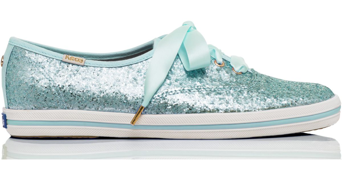 a1b68ce8677 Lyst - Kate Spade Keds For Glitter Sneakers in Green