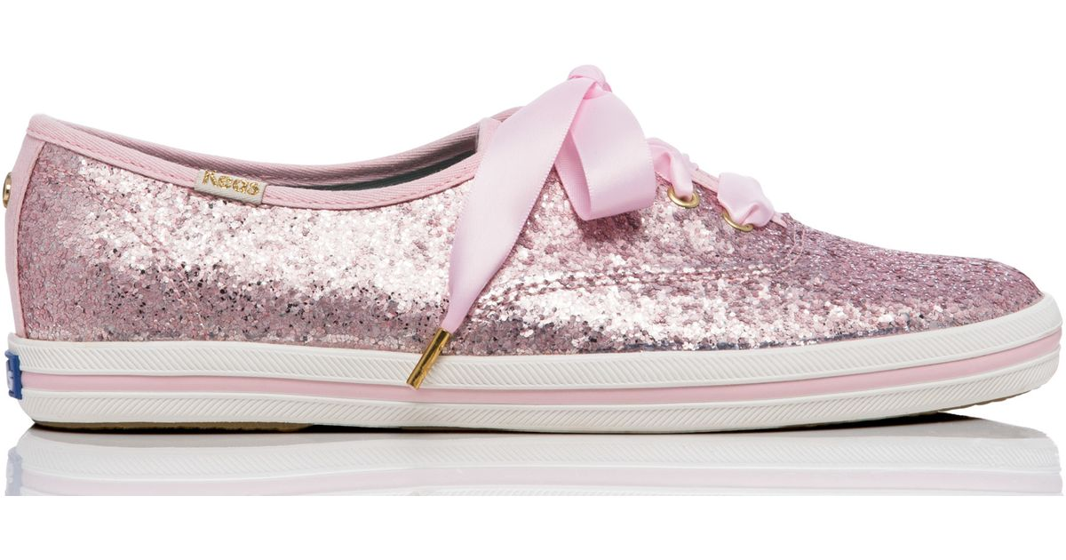 5c9d8c04983a Kate Spade Keds For Glitter Sneakers in Pink - Lyst