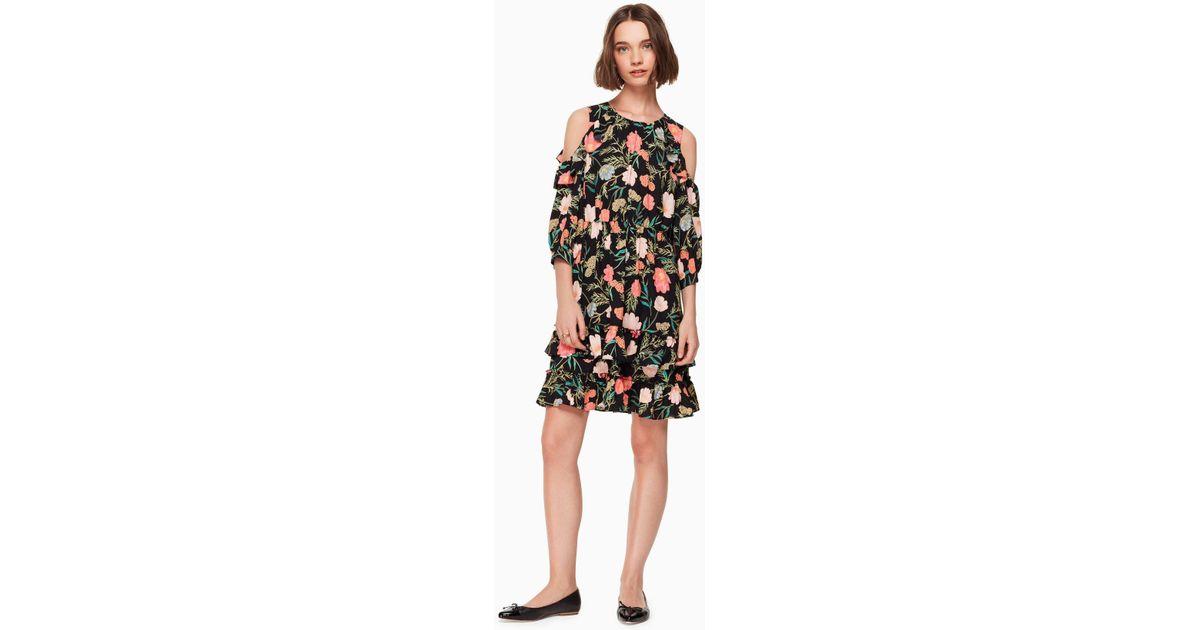 b63cf01b9c2 Kate Spade Blossom Cold Shoulder Dress in Black - Save 30% - Lyst