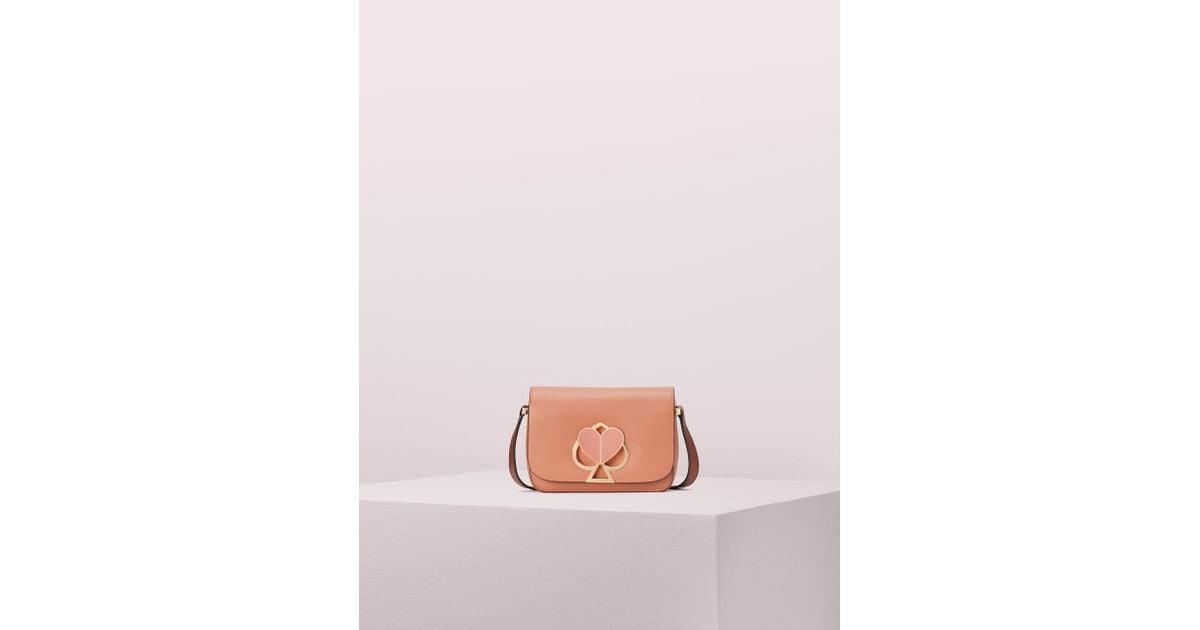 f2db9cd89e81a0 Kate Spade Nicola Twistlock Small Shoulder Bag in Pink - Lyst