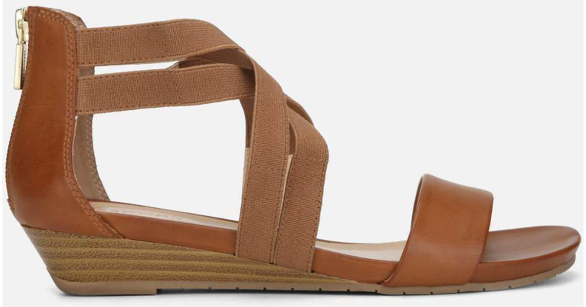 530151750b Lyst - Kenneth Cole Reaction Great Stretch Wedge Sandal in Brown