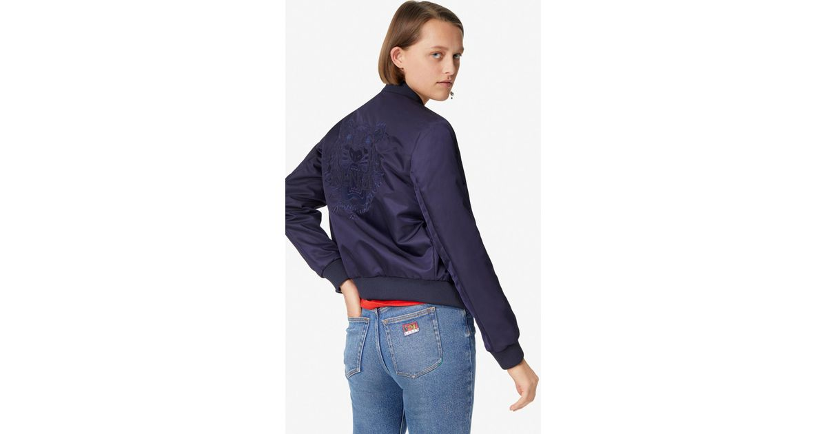 e7884a1afc5 KENZO Tiger Bomber Jacket Navy Blue in Blue - Lyst