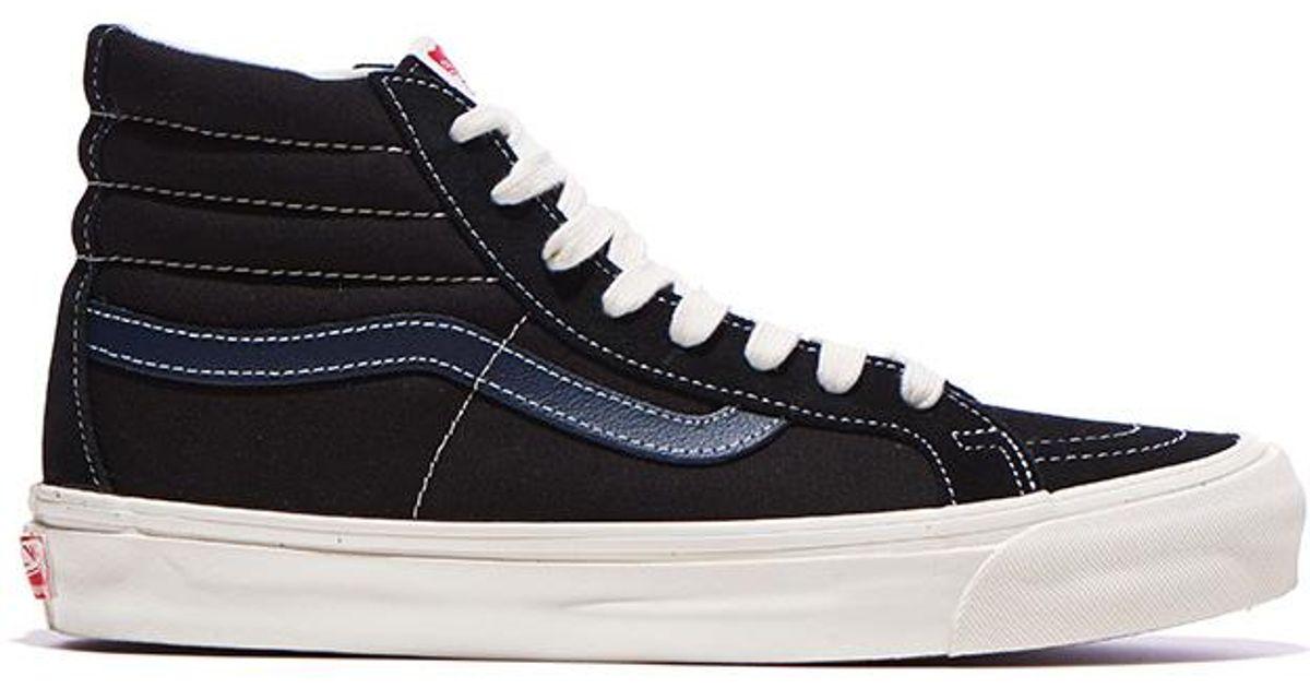 b7aadd5623b Lyst - Vans Vans Og Sk8 Hi Lx Black  Dress Blue in Black for Men
