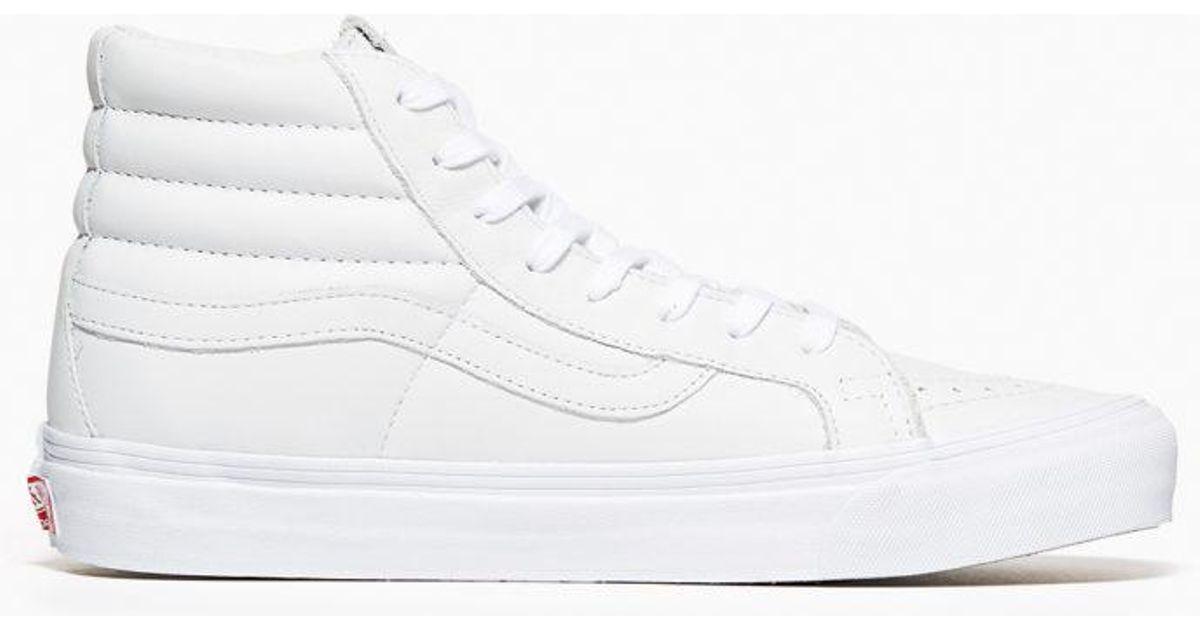 04202e57649241 Lyst - Vans Vans Og Sk8 Hi Lx Leather White in White