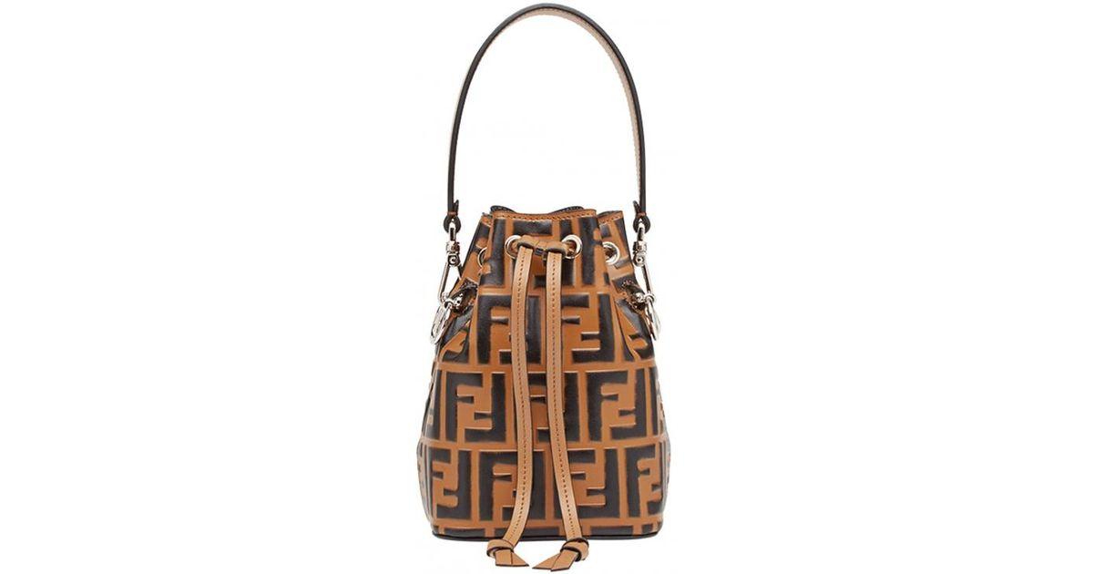 941927153914 Lyst - Fendi Mon Trésor Mini Bucket Bag