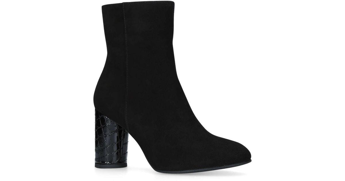 325bf4243 Carvela Kurt Geiger Smile High Heel Ankle Boots in Black - Save 63% - Lyst