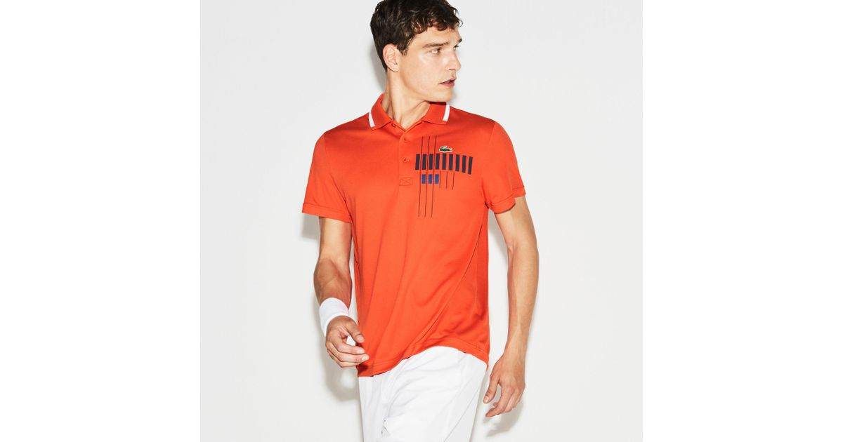 fec72a2681b27 Lyst - Lacoste Polo X Novak Djokovic - Exclusive Edition in Red for Men
