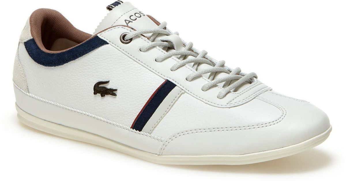 ca0fdab36 Lyst - Lacoste Misano Leather Trainers in White for Men
