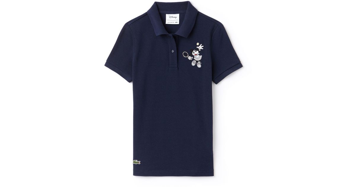 Polo Petit Lacoste Minnie Embroidery Piqué Disney Blue bvfyIg7Y6
