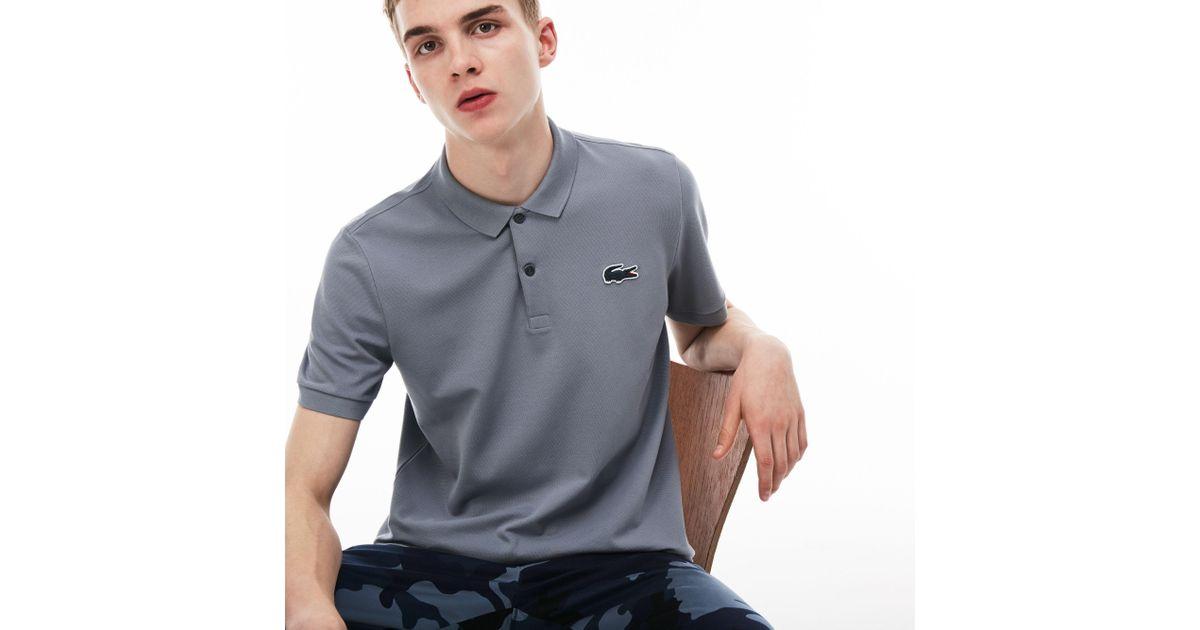 0c600bf9b6 Lacoste Blue Live Slim Fit Stretch Piqué Polo for men