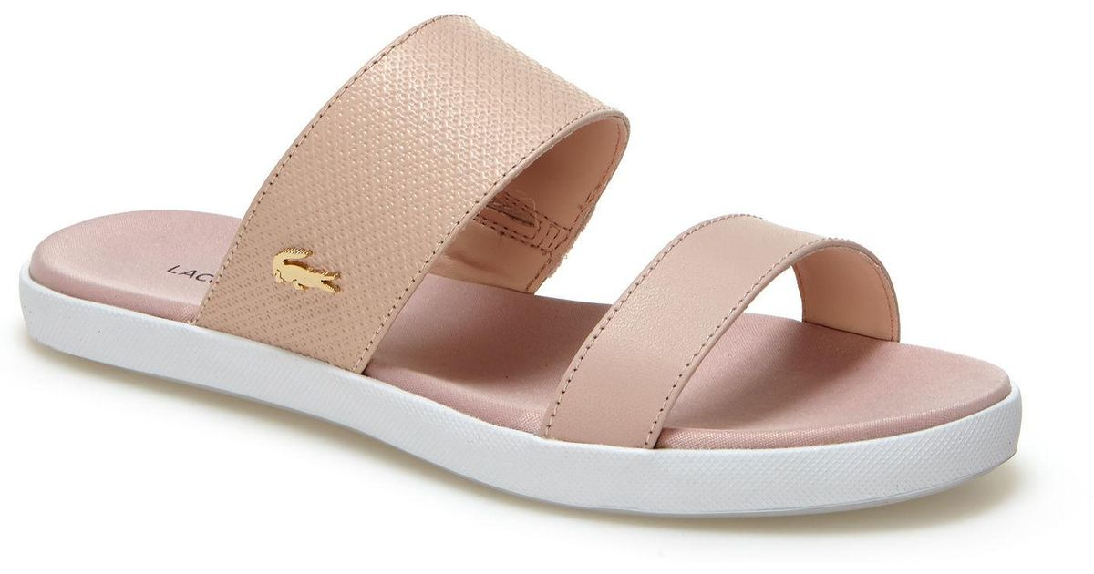ae4a4cb6e9882 Lyst - Lacoste Natoy Leather Sandals