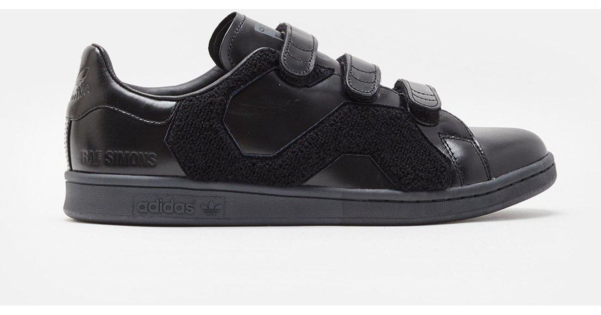 adidas By Raf Simons Stan Smith Velcro Sneakers in Black - Lyst 038c400eb